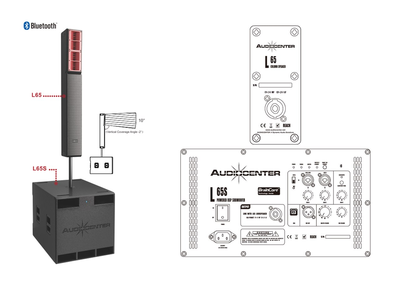Audio Center L65+L65S Column System